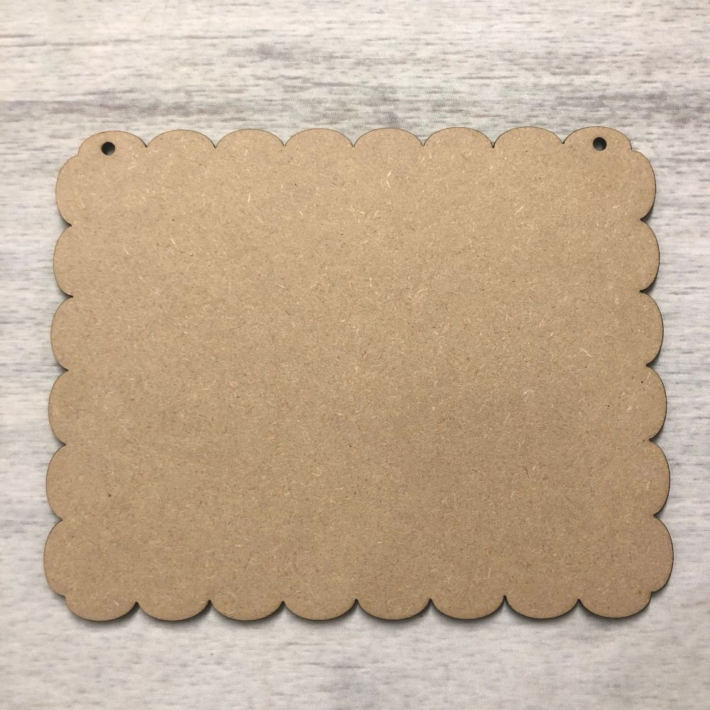 Blank name plaque - fancy finish rectangle
