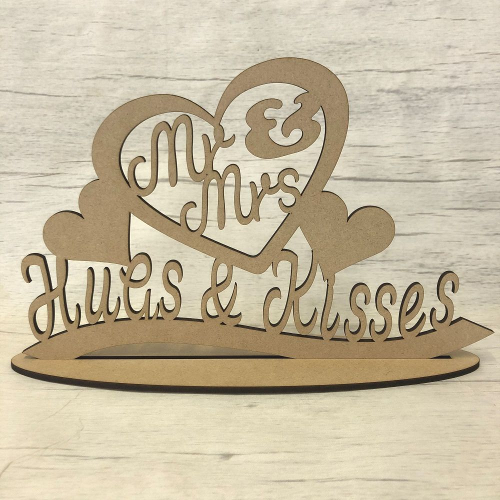 Free standing plaque - 'Mr & Mrs'