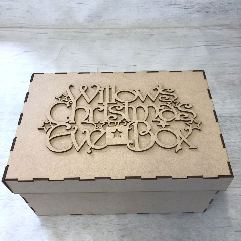 Keepsake box & topper - Christmas Eve Box  - customised