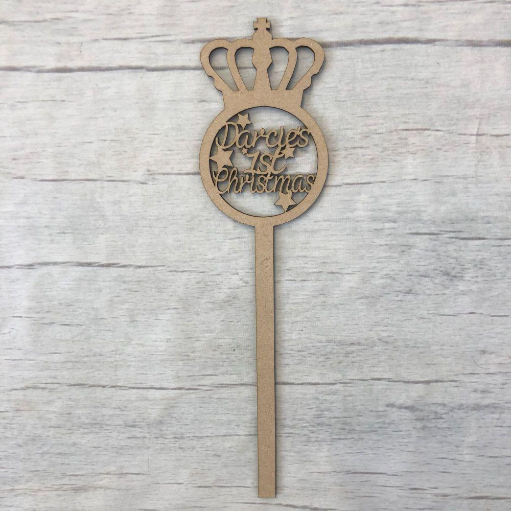 Christmas Princess fairy wand - customised
