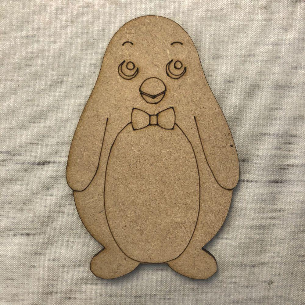 Penguin 3 - engraved