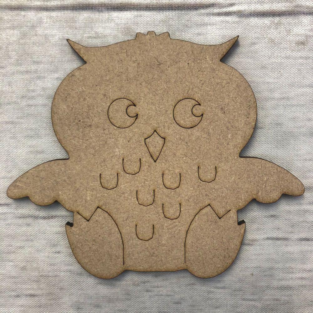 Owl - engraved