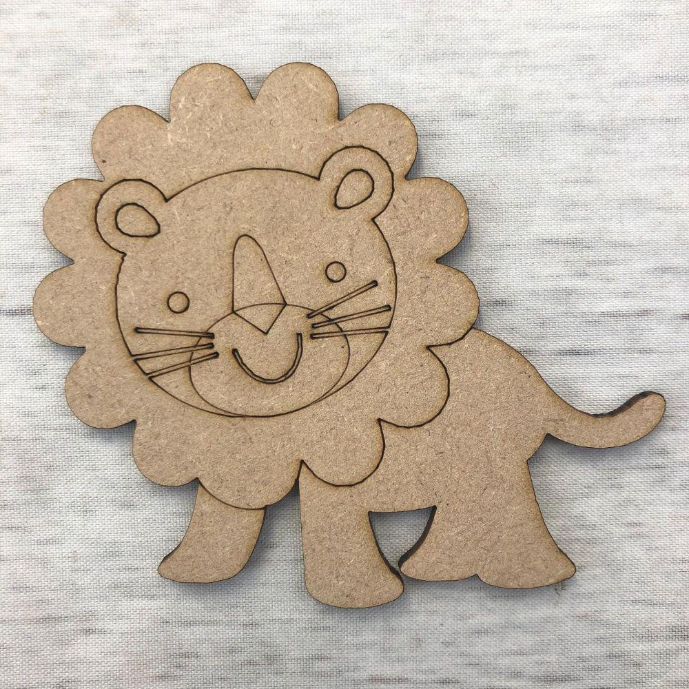Lion - engraved