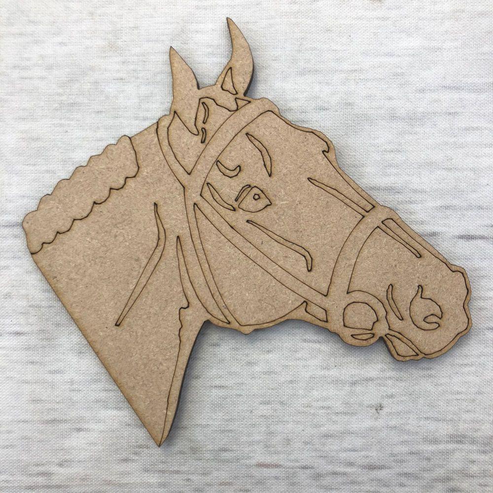 Horse - engraved