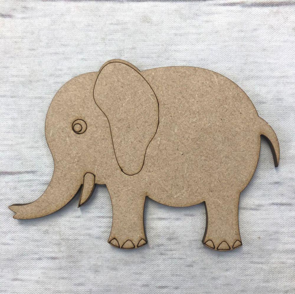 Elephant 2 - engraved