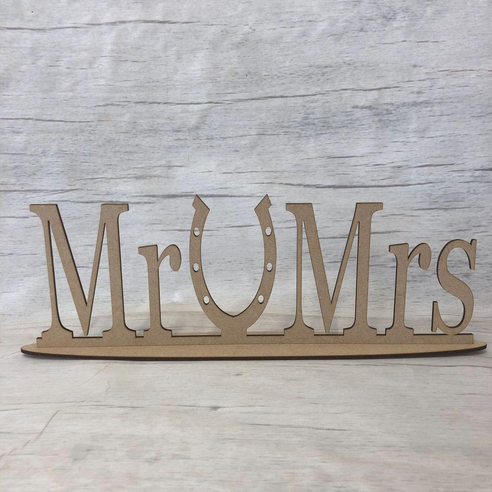 Mr & Mrs Horse shoe plaque