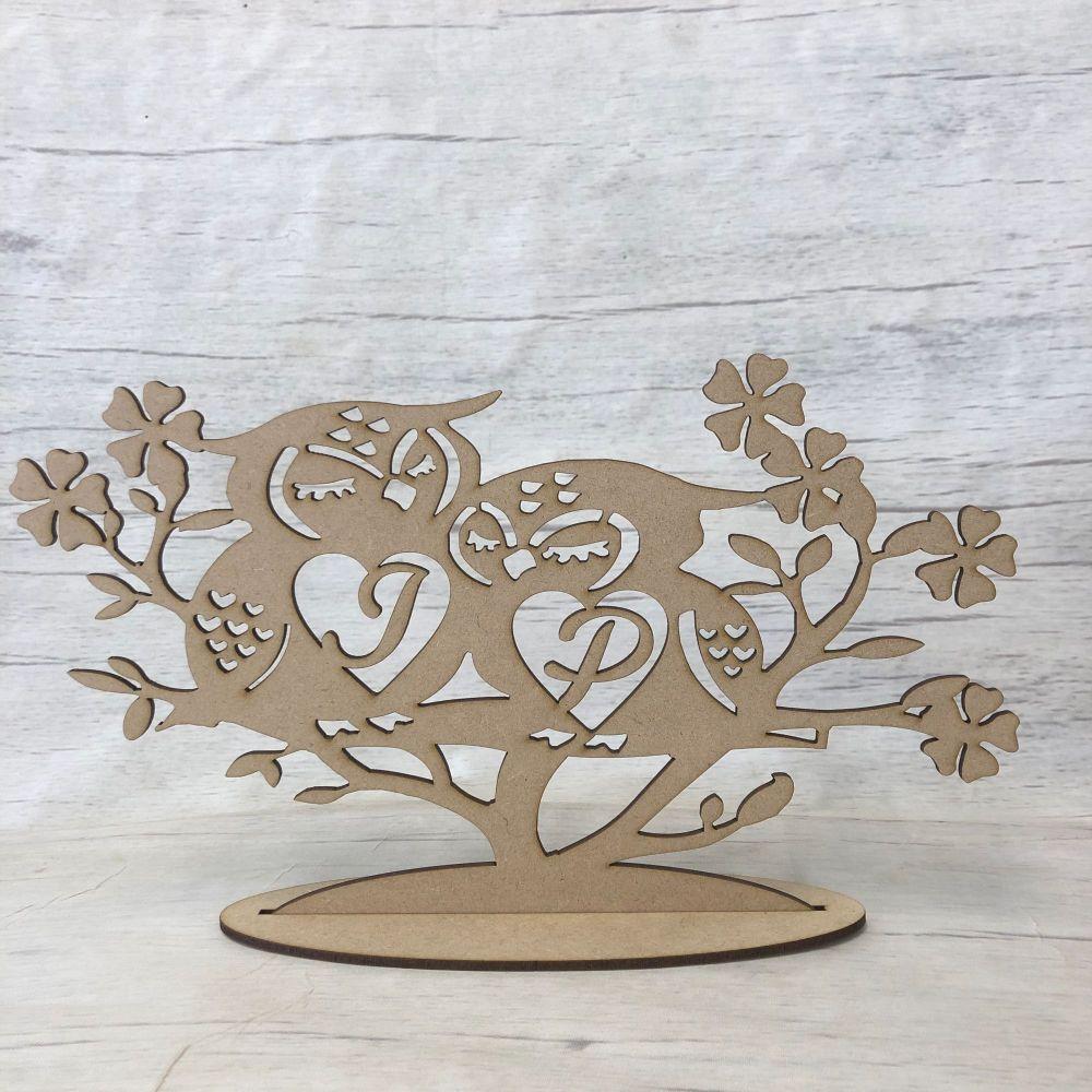 Wedding Valentines Owl table decoration  - Personalised
