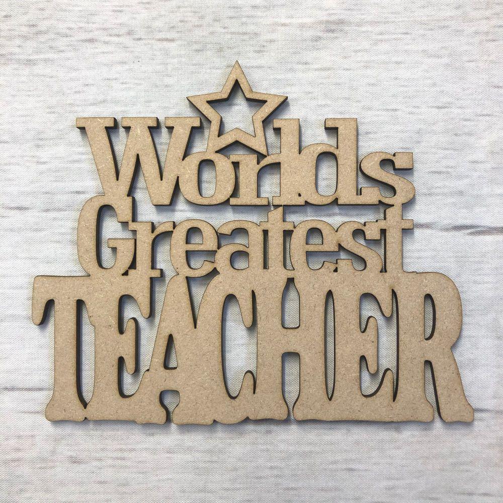 Worlds Greatest Teacher Plaque