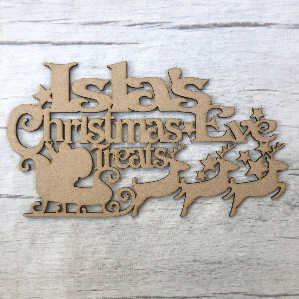 Christmas eve box topper - Santa design - customised
