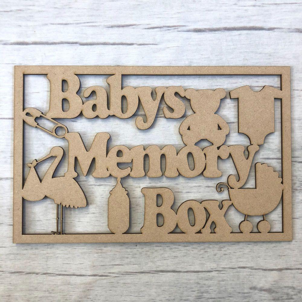 Box topper - Baby Memory Box