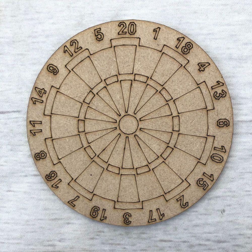 Dart board -  engraved
