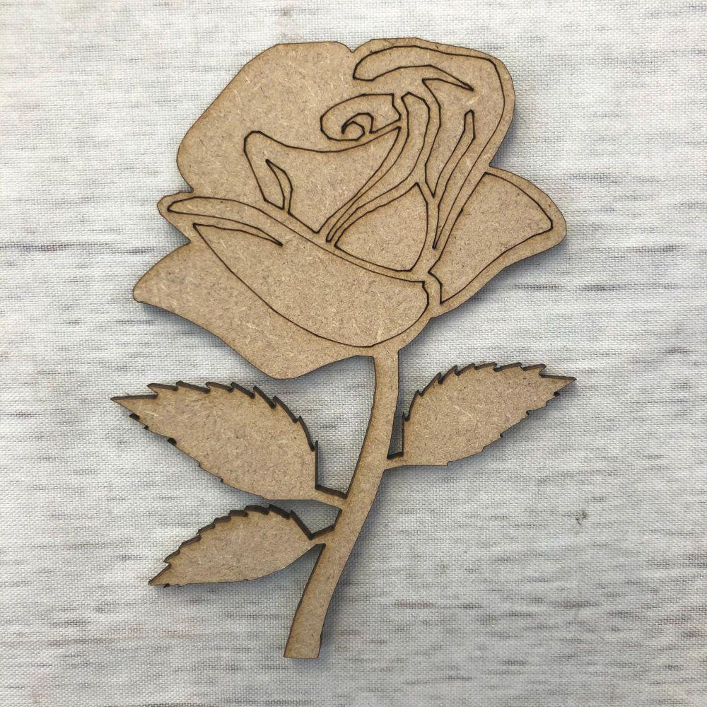 Rose 1 - engraved