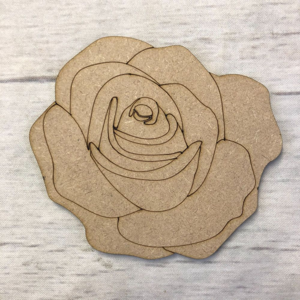Rose 2 - engraved