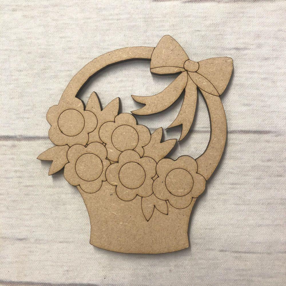 Flower Basket - engraved