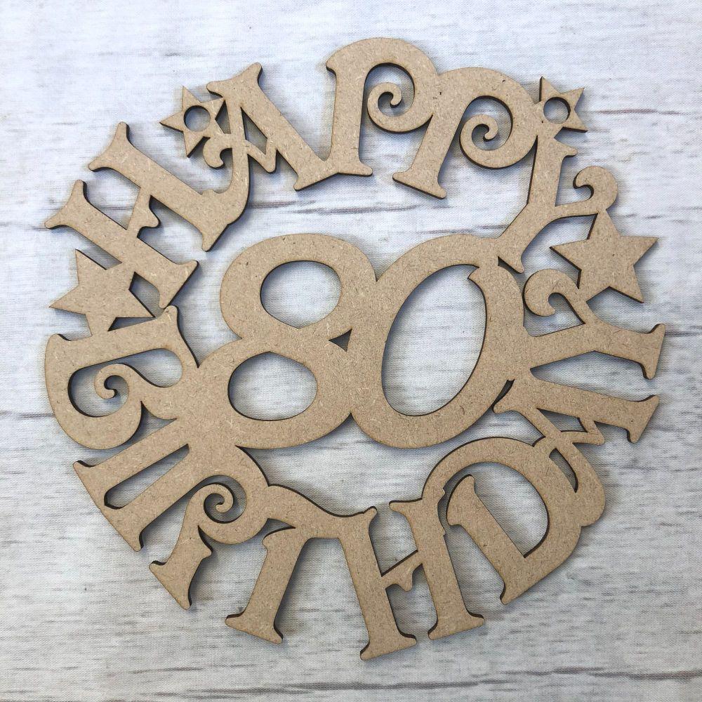 Happy Birthday wreath plaque - Personalised