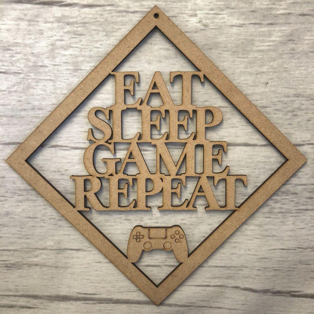 Eat Sleep Repeat- hanging plaque