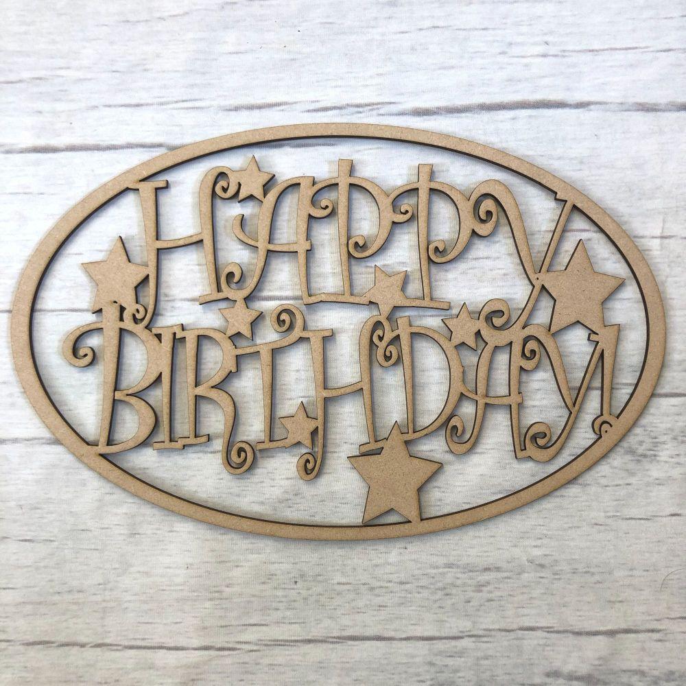 Box topper - Happy Birthday