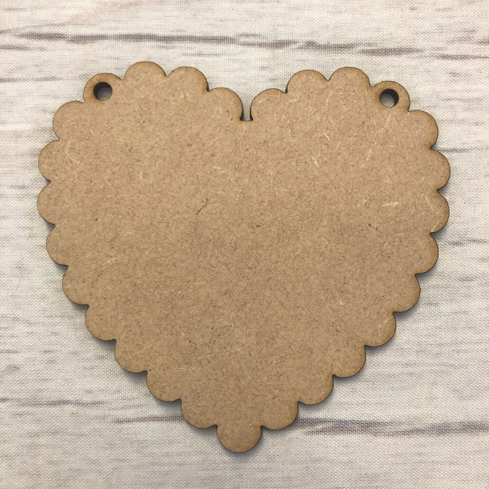 Bunting - Scalloped Heart