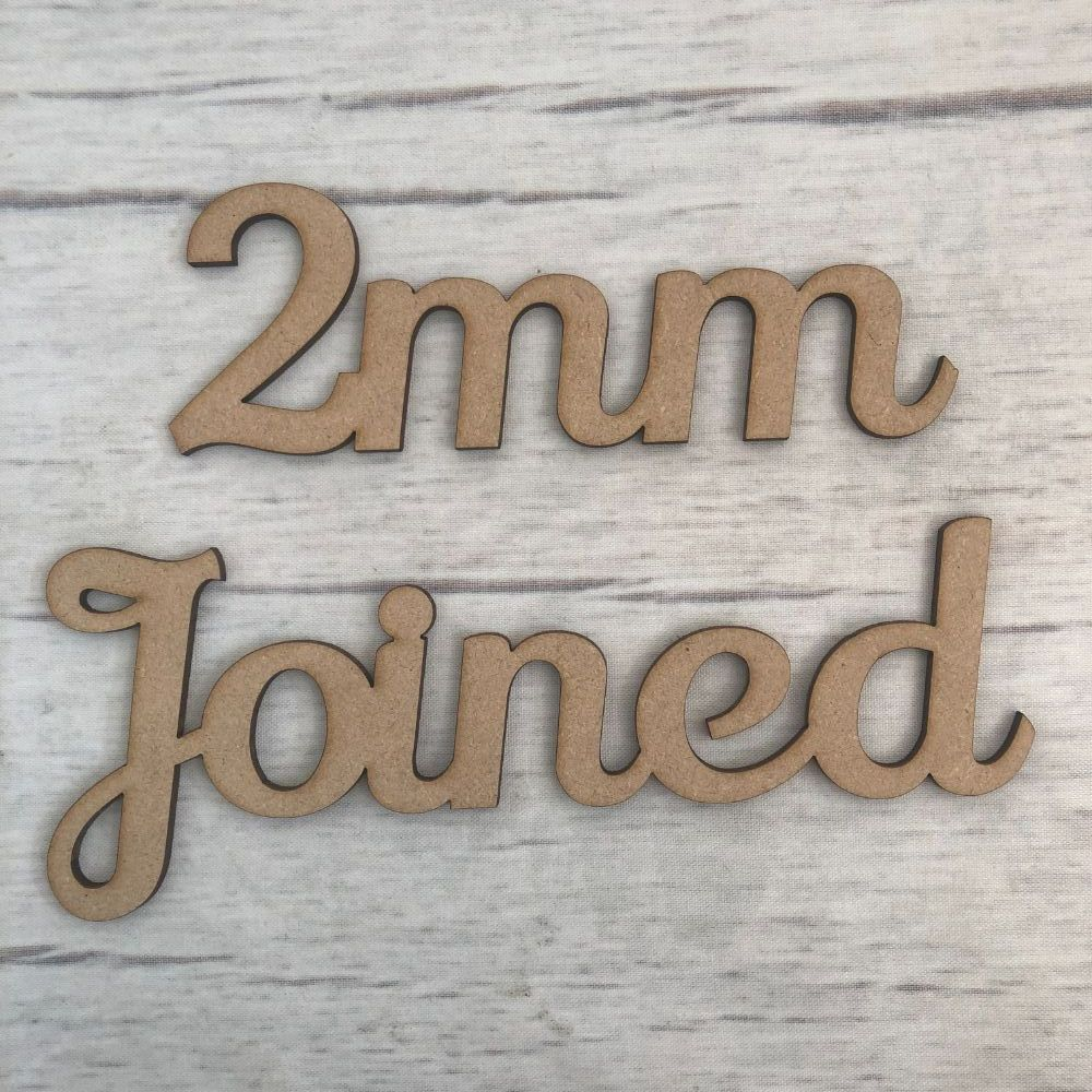 2mm - Joined up lettering, words, names & scripts