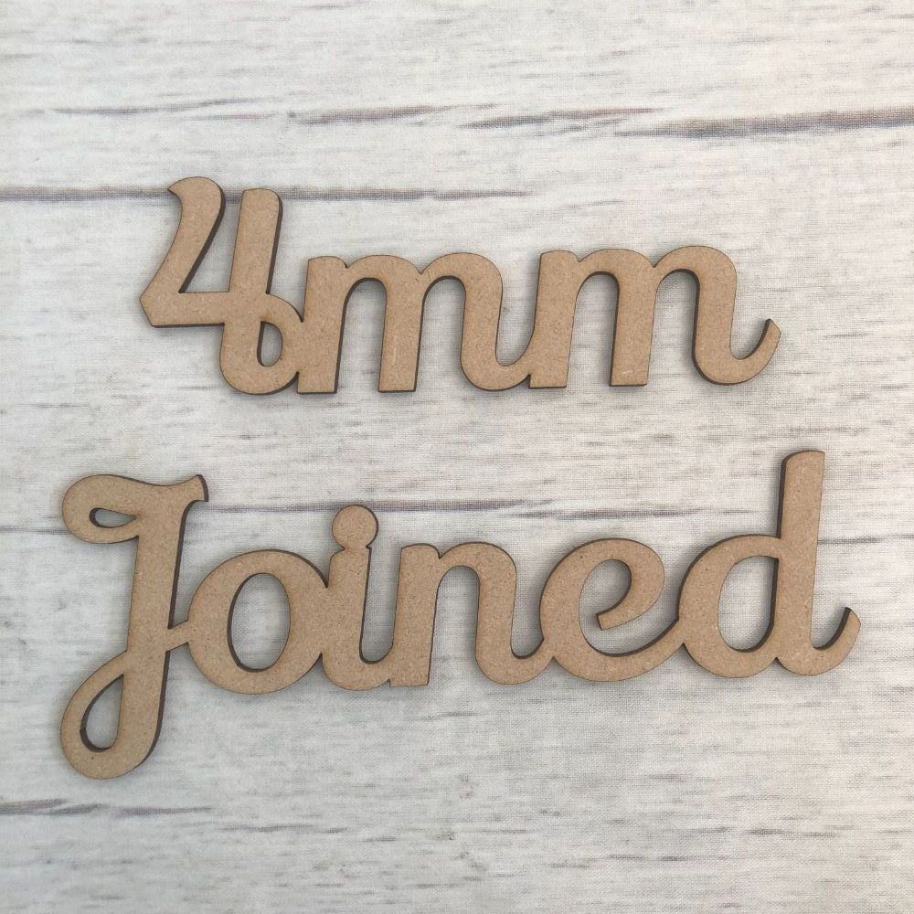 4mm - Joined up lettering, words, names & scripts