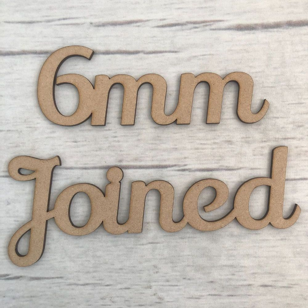 6mm - Joined up lettering, words, names & scripts
