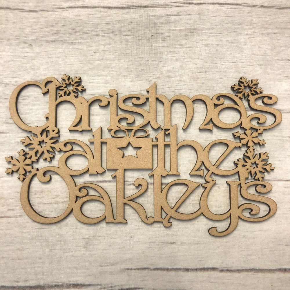Christmas at the..' Christmas hanging plaque - customised