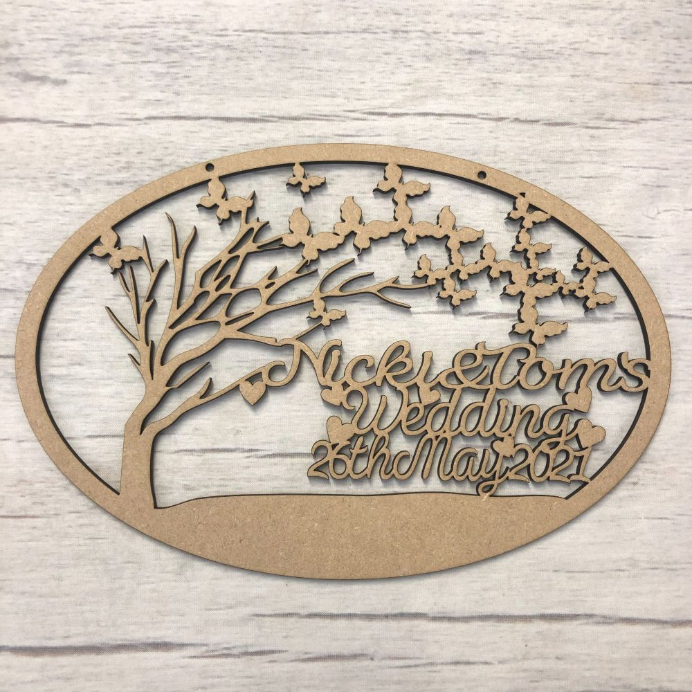 Butterfly tree plaque - customised