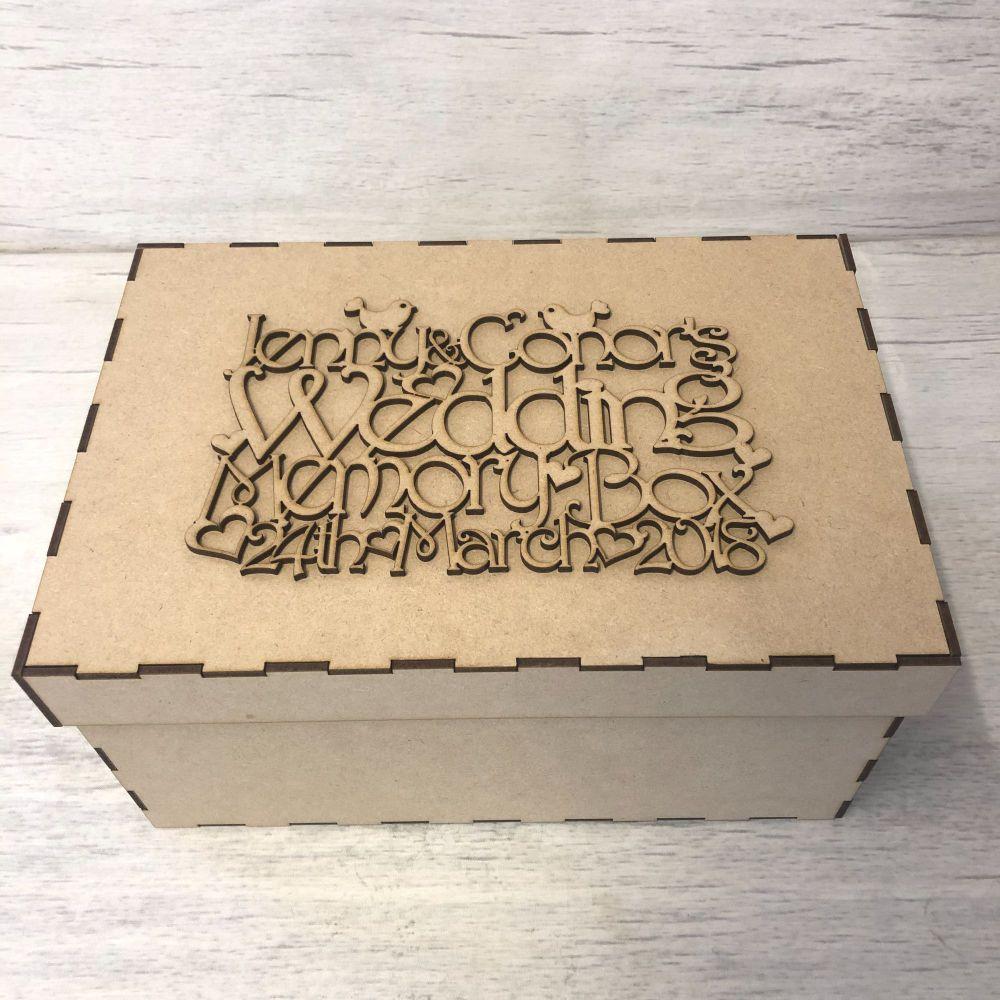 Keepsake box & topper - Wedding  - customised
