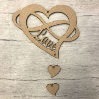 Hanging heart - 'Love'  2