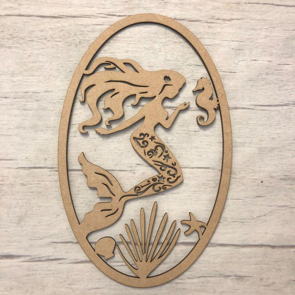 Box topper - keepsake memory box - Mermaid plaque