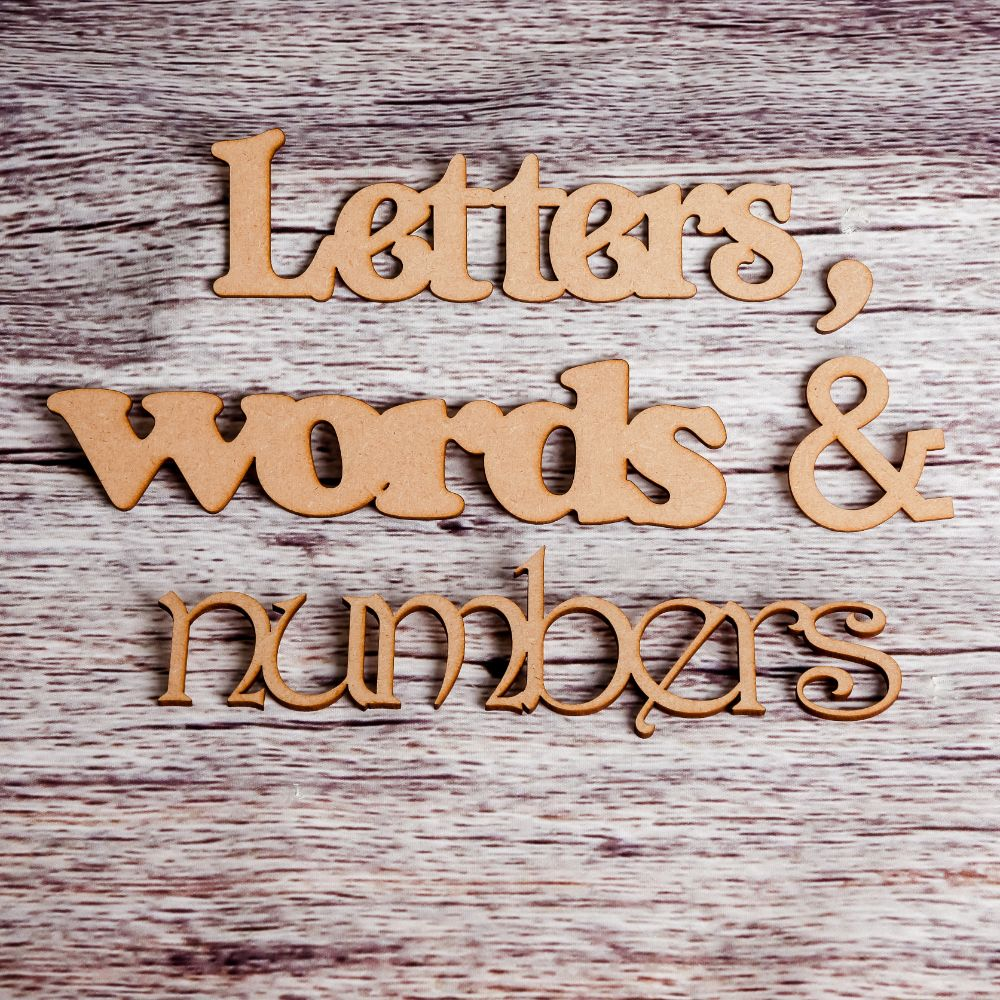 Letters, words & numbers