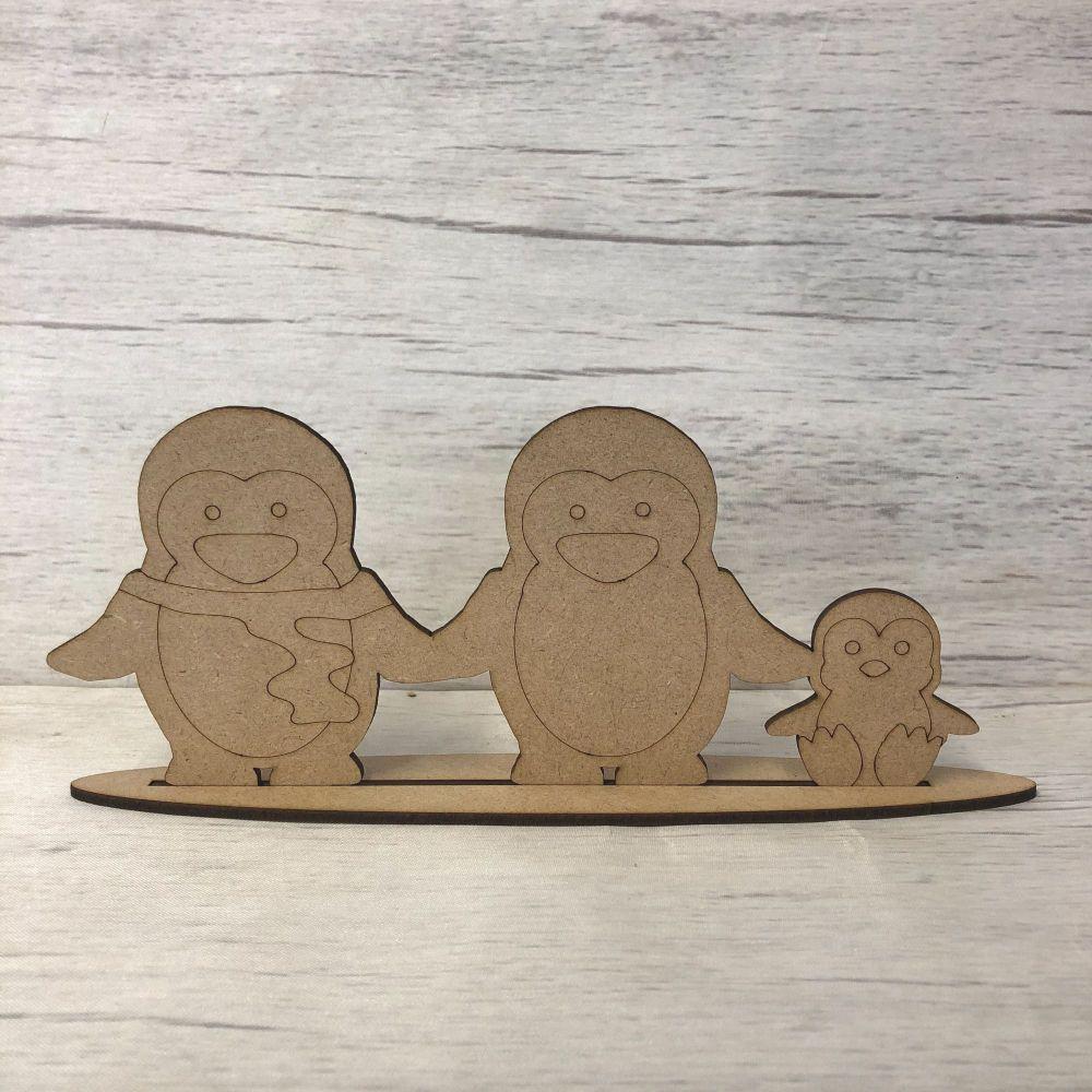 Christmas Penguins - freestanding set of three