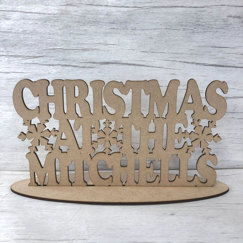 Christmas at the sign - customised - freestanding