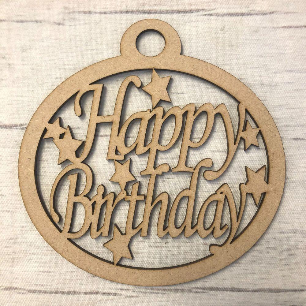 'Happy Birthday' craft hanger