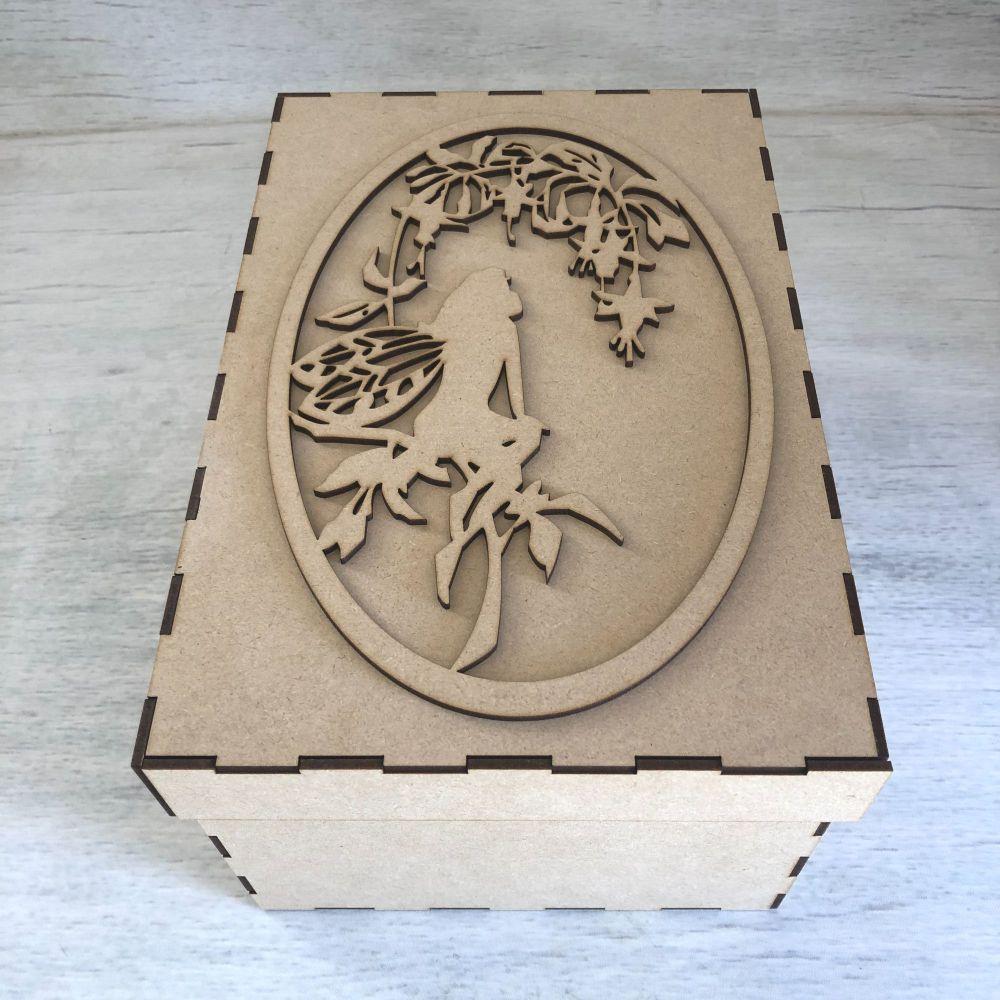 keepsake box & Topper - Fairy