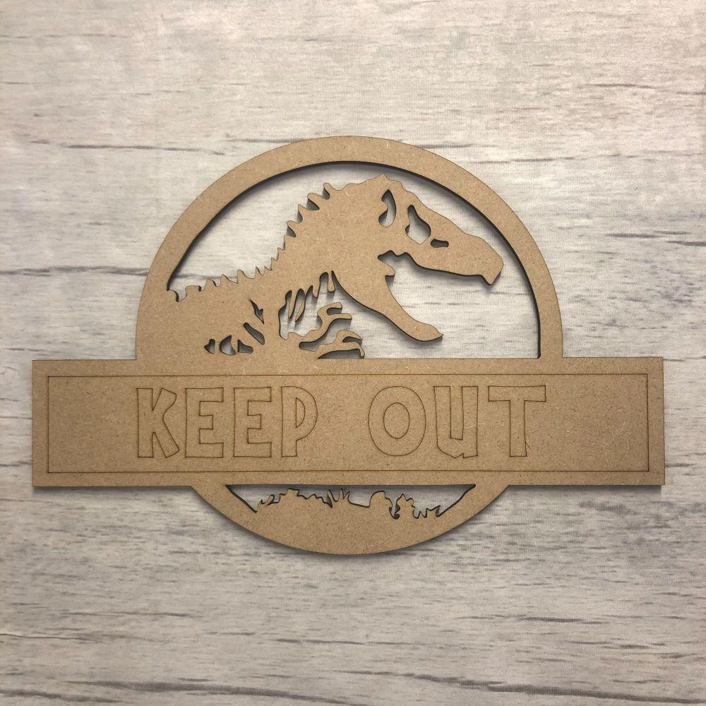 Door plaque - Dinosaur - Customised