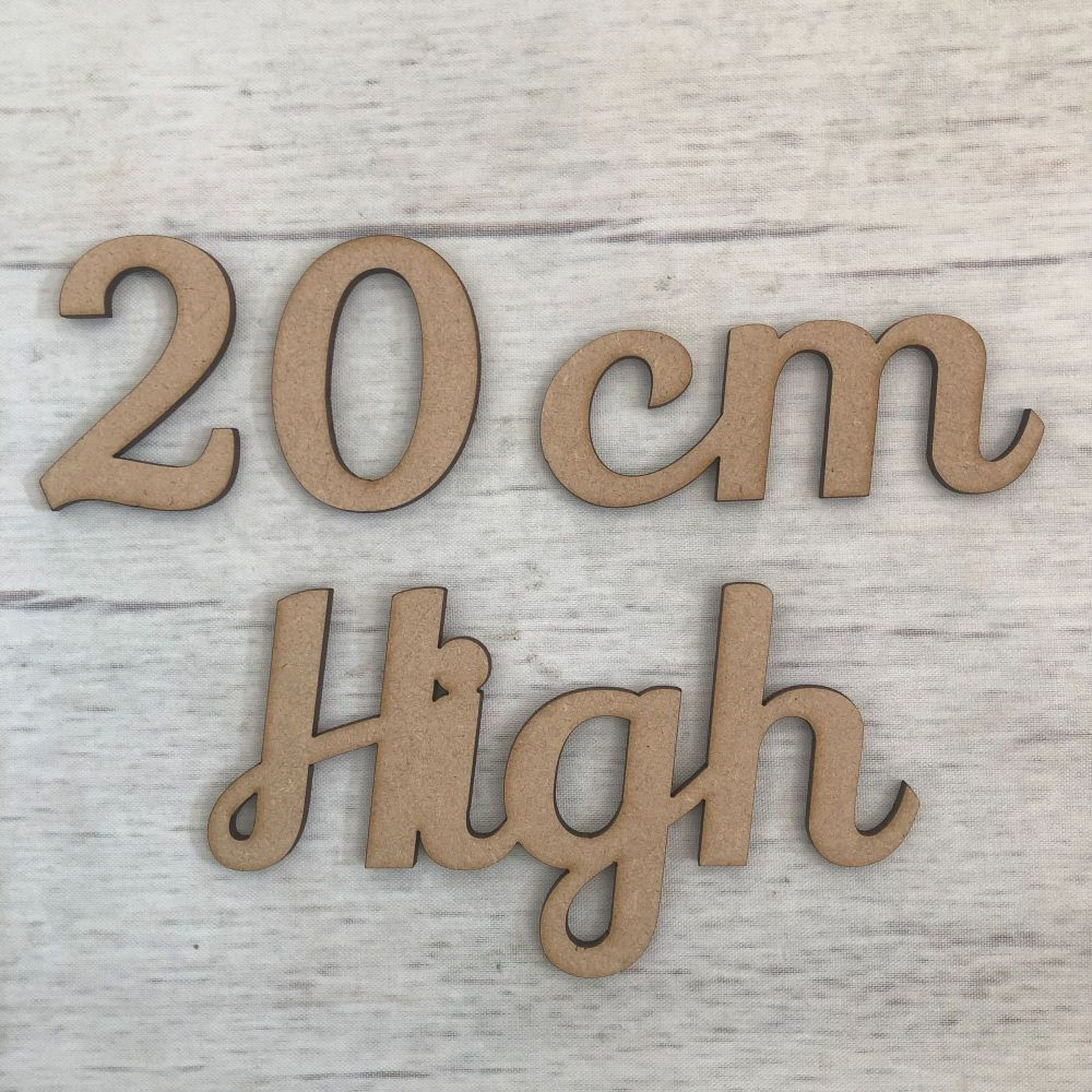 20cm high (2mm thick)