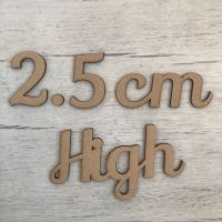 2.5cm high (3mm thick)