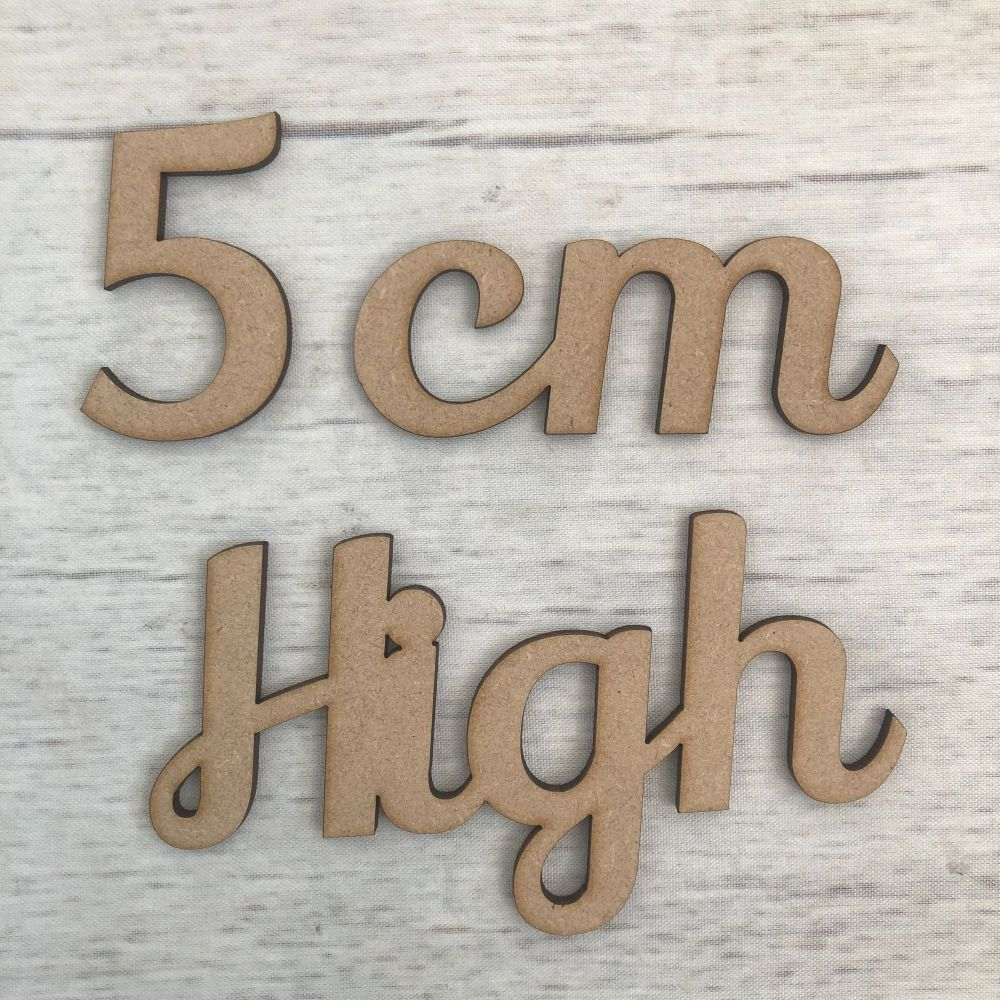5cm high (3mm thick)