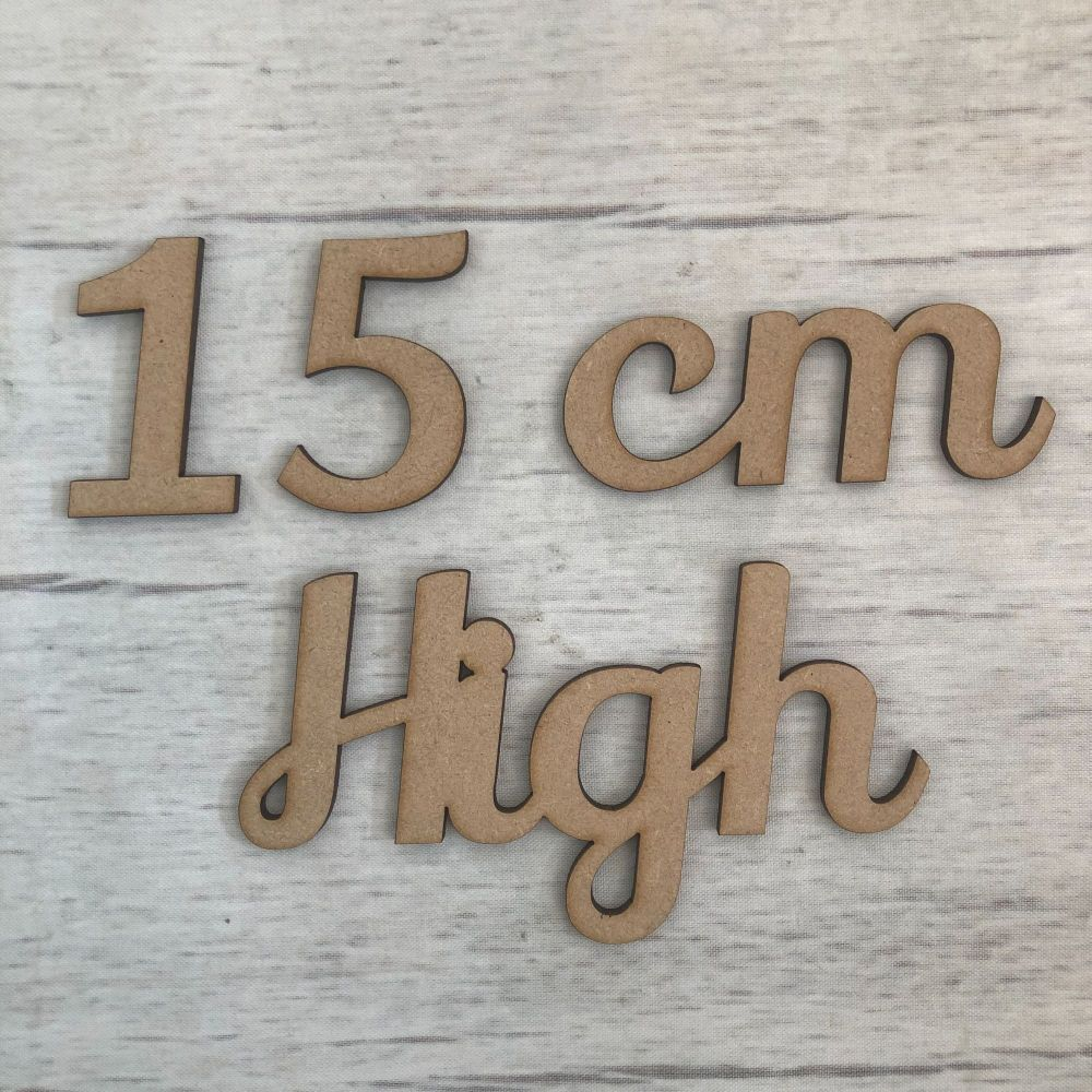 15cm high (6mm thick)