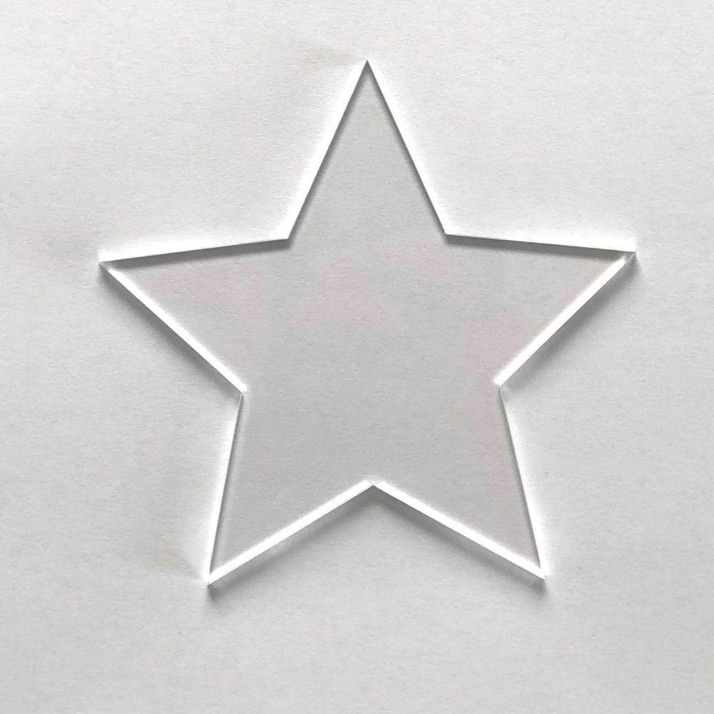 Clear Acrylic Star