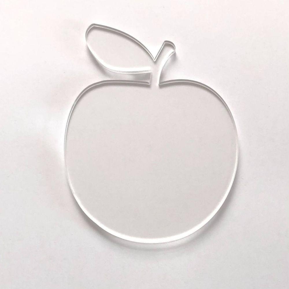 Clear Acrylic Apple