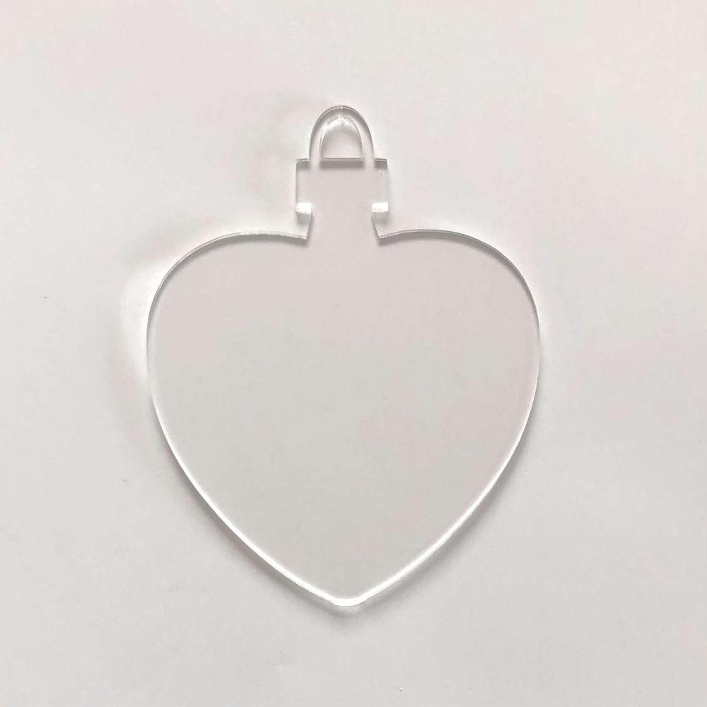 Clear Acrylic Bauble 4 (Heart)