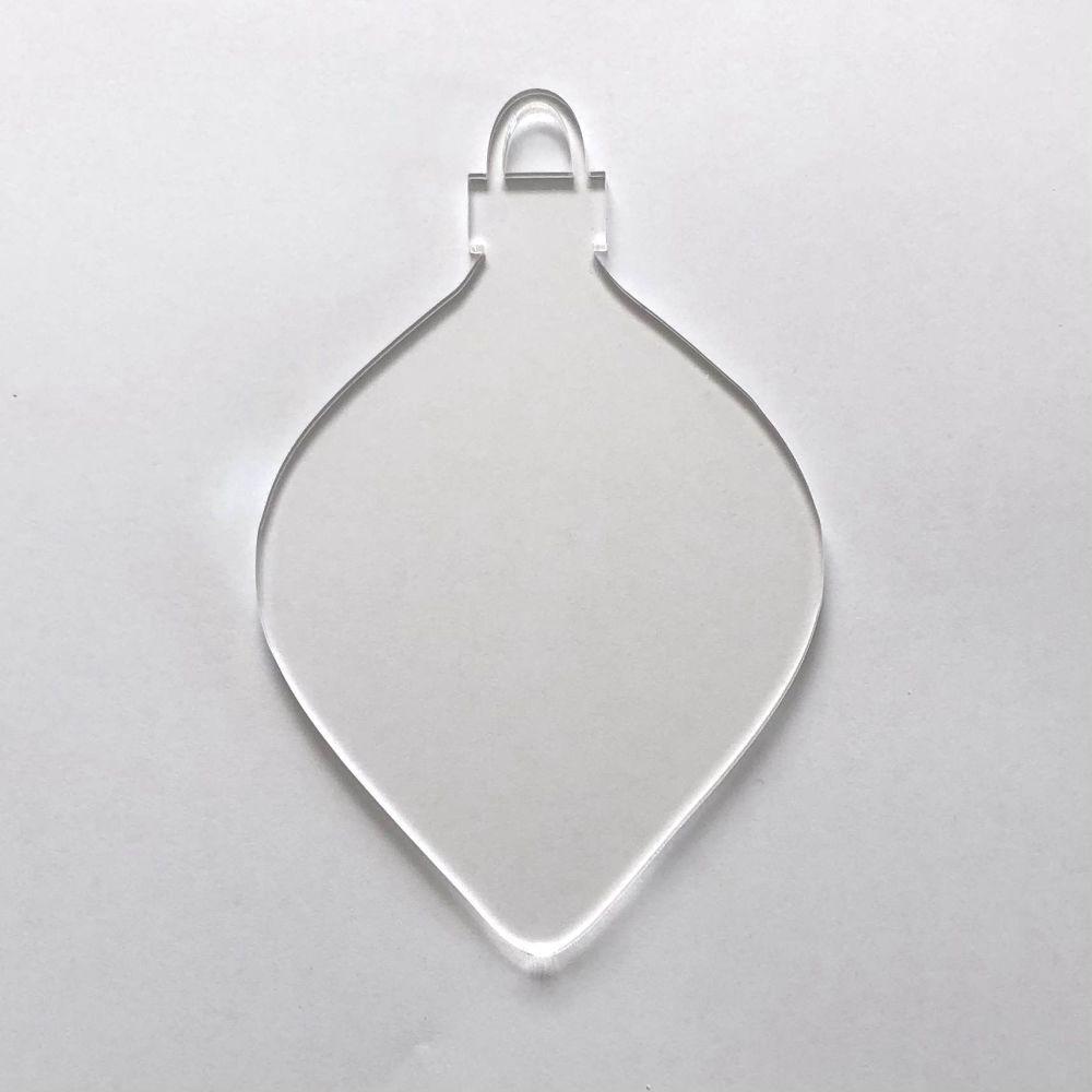 Clear Acrylic Bauble 5