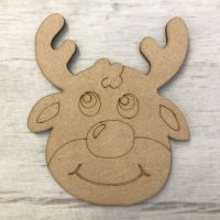 Reindeer - engraved