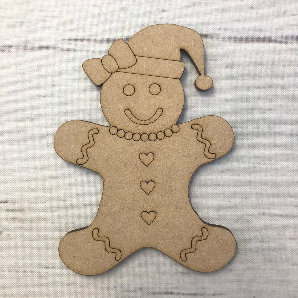 Gingerbread Lady - engraved