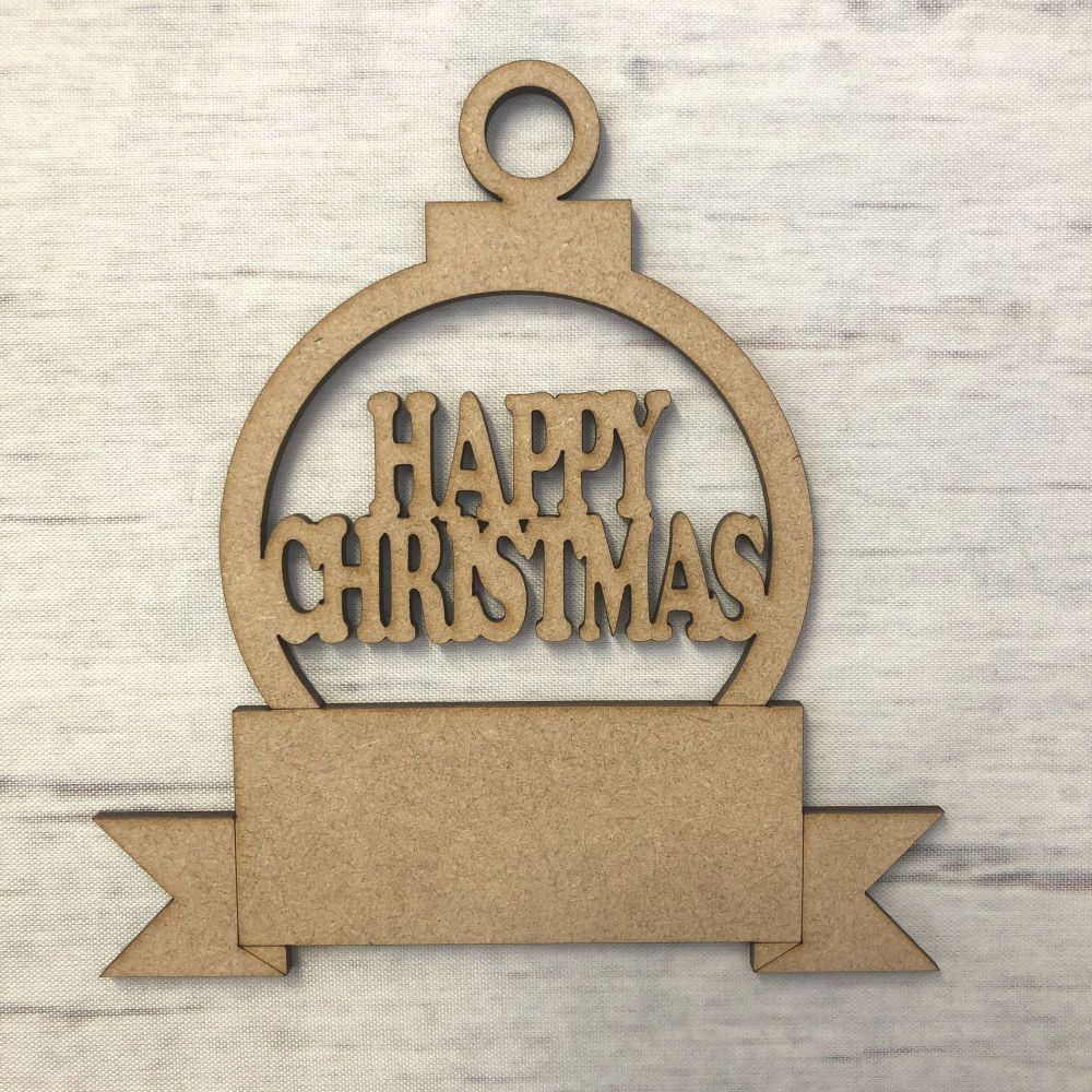 Bauble Scroll - Happy Christmas