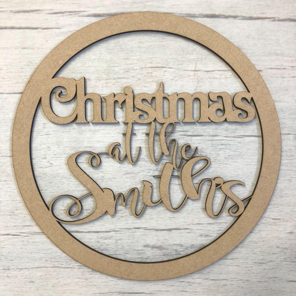 Hoop Christmas  - Customised (Magnolia Sky Font)