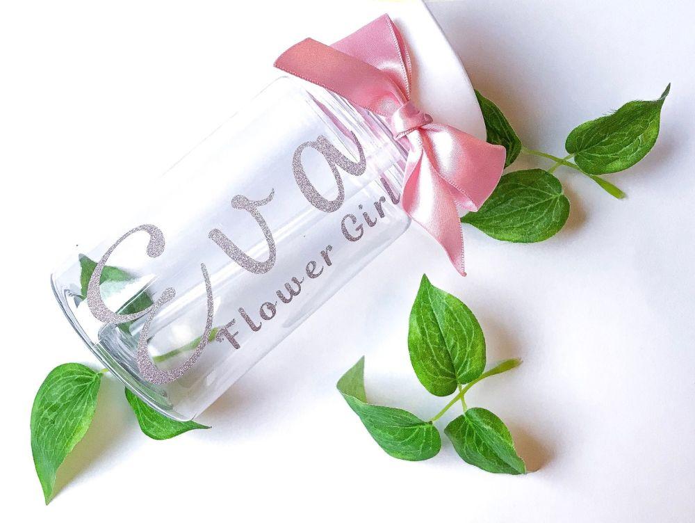 Personalised mini water bottles