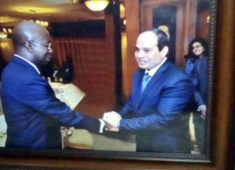 Ambassador Allou Allou and Egypt President Sissi